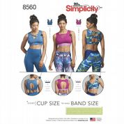 8560 Simplicity Pattern: Misses' Knit Sports Bras